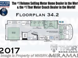 New 2017  Thor Motor Coach Miramar 34.2 W/Ext. Kitchen, OH Loft, King Bed by Thor Motor Coach from Motor Home Specialist in Alvarado, TX