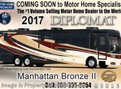 New 2017  Monaco RV Diplomat 43Q Bath & 1/2, Bunk Model Luxury Diesel Coach by Monaco RV from Motor Home Specialist in Alvarado, TX