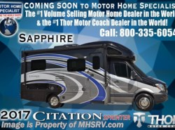New 2017  Thor Motor Coach Chateau Citation Sprinter Diesel RV 24SS W/Theater Seats, Ext. TV, Dsl Gen by Thor Motor Coach from Motor Home Specialist in Alvarado, TX