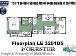 New 2018  Forest River Forester LE 3251DS Bunk House RV for Sale at MHSRV W/Jacks by Forest River from Motor Home Specialist in Alvarado, TX