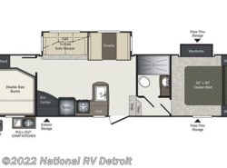 New 2017  Keystone Laredo Super Lite 285SBH by Keystone from National RV Detroit in Belleville, MI