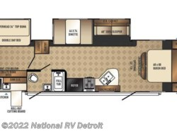 New 2017  Palomino Solaire Ultra Lite 317BHSK by Palomino from National RV Detroit in Belleville, MI