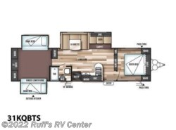 New 2017  Forest River Wildwood 31KQBTS by Forest River from Ruff's RV Center in Euclid, OH