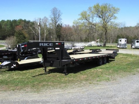 2019 Rice Trailers 14K Deckover 20+5 w/Center Pop-Up