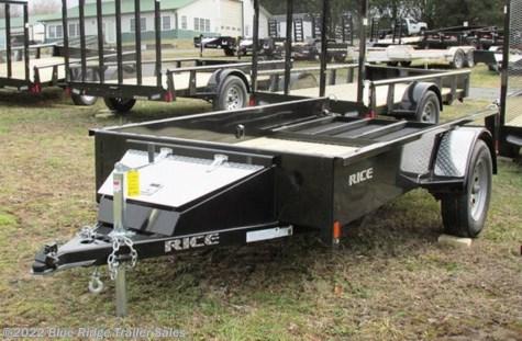 2019 Rice Trailers 5x10 Stealth w/4' Gate