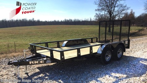 2020 Rice Trailers 7x16 Pipe Top with 5' Gate