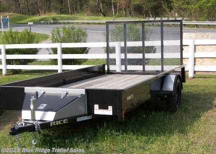 2020 Rice Trailers 7x14 Solid Sides and Wood Floor