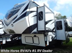 New 2015  Keystone Fuzion 342 Triple Slide Toy Hauler w/11' Garage by Keystone from White Horse RV Center in Williamstown, NJ