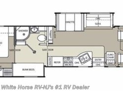 Used 2010  Coachmen Mirada 34BH Rear Queen, Double Slide with Bunks by Coachmen from White Horse RV Center in Williamstown, NJ