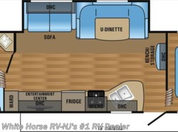 New 2017  Jayco Jay Flight SLX 284BHSW 2-Bedroom Sofa/U-Dinette Slideout by Jayco from White Horse RV Center in Williamstown, NJ
