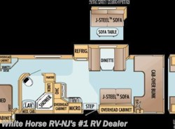 Used 2007  Jayco Greyhawk 33DS Queen Bed & Dinette Slide-outs by Jayco from White Horse RV Center in Williamstown, NJ