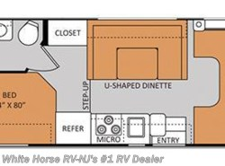 Used 2014  Thor Motor Coach Freedom Elite 22E Corner Bed/Bath, U-shaped Dinette by Thor Motor Coach from White Horse RV Center in Williamstown, NJ