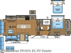 New 2017  Jayco Pinnacle 36KPTS Rear Living Triple Slide by Jayco from White Horse RV Center in Williamstown, NJ