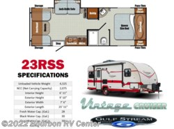 New 2017  Gulf Stream Vintage Cruiser 23RSS by Gulf Stream from Bourbon RV Center in Bourbon, MO