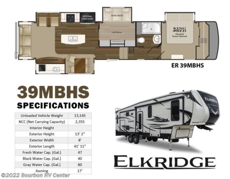 2019 Heartland RV ElkRidge ER 39 MBHS