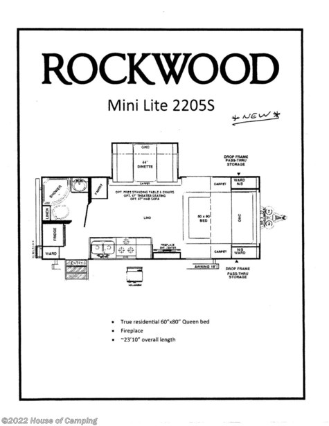 2020 Forest River Rockwood Mini Lite 2205S