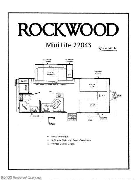 2020 Forest River Rockwood Mini Lite 2204S