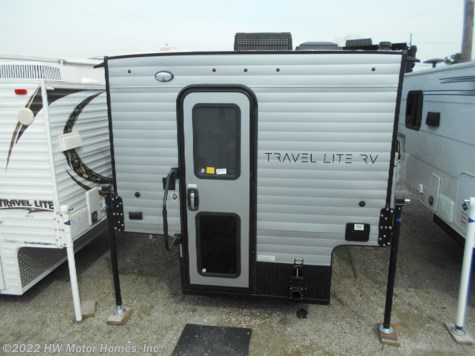 2019 Travel Lite Truck Campers 800 X   Greyhound Silver - Sofa