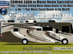 New 2018 Thor Motor Coach Miramar 35.3 Bath & 1/2 RV for Sale W/Fireplace, King Bed available in Alvarado, Texas