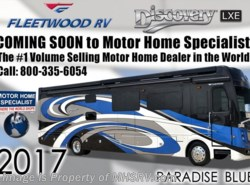 New 2017  Fleetwood Discovery LXE 40D Bath & 1/2 RV W/Sat, 3 A/C, Dishwasher by Fleetwood from Motor Home Specialist in Alvarado, TX