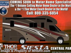 New 2018  Thor Motor Coach Four Winds Siesta Sprinter 24SR RV for Sale @ MHSRV W/Summit Pkg, Dsl Gen by Thor Motor Coach from Motor Home Specialist in Alvarado, TX