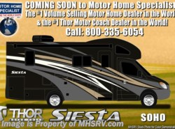 New 2018  Thor Motor Coach Four Winds Siesta Sprinter 24SJ Diesel Sprinter RV W/ Summit Pkg, Dsl Gen