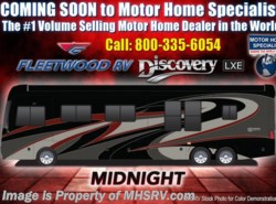 New 2018  Fleetwood Discovery LXE 44H Bath & 1/2 450HP Tag W/Aqua Hot by Fleetwood from Motor Home Specialist in Alvarado, TX
