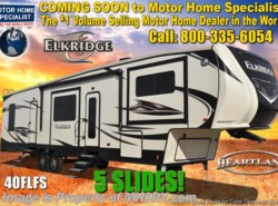 New 2018  Heartland RV ElkRidge 40FLFS W/Booth, Auto Level, 2 A/C, Ext Grill by Heartland RV from Motor Home Specialist in Alvarado, TX