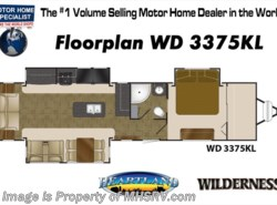 New 2018  Heartland RV Wilderness 3375KL W/Theater Seats, King, Pwr Jacks, 2 A/Cs by Heartland RV from Motor Home Specialist in Alvarado, TX