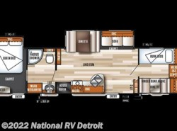 New 2018  Forest River Salem 36BHBS by Forest River from National RV Detroit in Belleville, MI