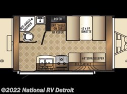 Used 2018  Palomino Solaire eXpandables 147X by Palomino from National RV Detroit in Belleville, MI