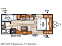 New 2018  Forest River Salem Cruise Lite 201BHXL by Forest River from Parkview RV Center in Smyrna, DE