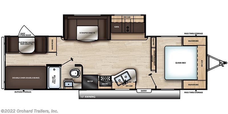 2019 Coachmen Catalina SBX 291BHS floorplan image