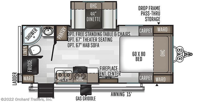 2020 Forest River Rockwood Mini Lite 2205S floorplan image