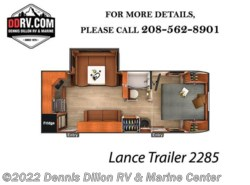 New 2018  Lance  Trailer 2285 by Lance from Dennis Dillon RV & Marine Center in Boise, ID