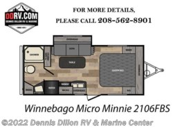 New 2018  Winnebago Minnie 2106Fbs by Winnebago from Dennis Dillon RV & Marine Center in Boise, ID