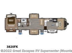 New 2018  Keystone Montana 3820FK by Keystone from Great Escapes RV Center in Gassville, AR