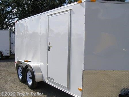 Cargo Trailer 2018 Covered Wagon Cw7x14ta2 Trailersusa