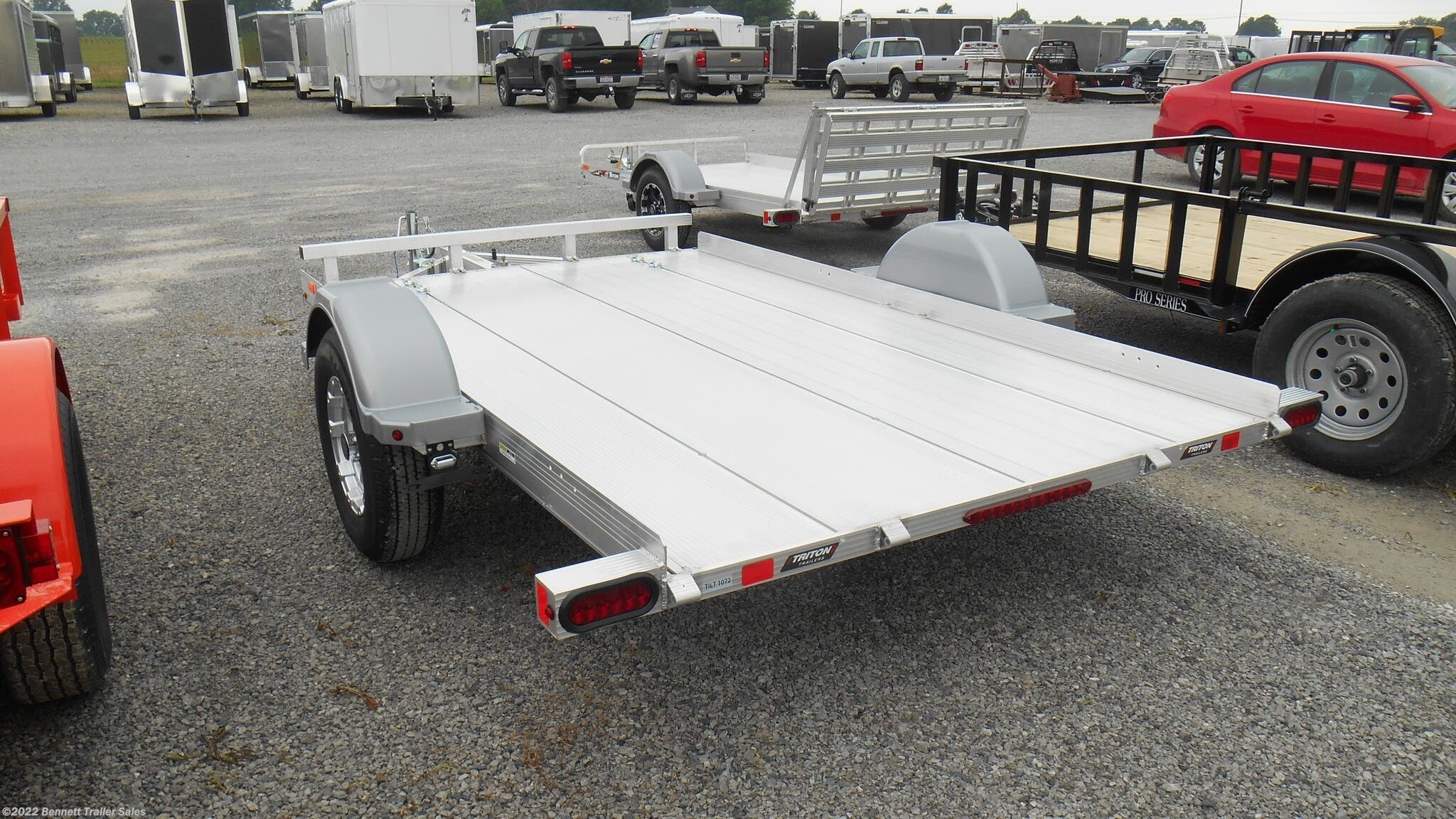 Stock Photo - Trailer will have Silver Steel Wheels
