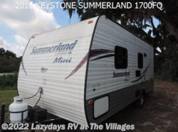 Used 2015  Keystone  SUMMERLAND 1700FQ by Keystone from Alliance Coach in Wildwood, FL