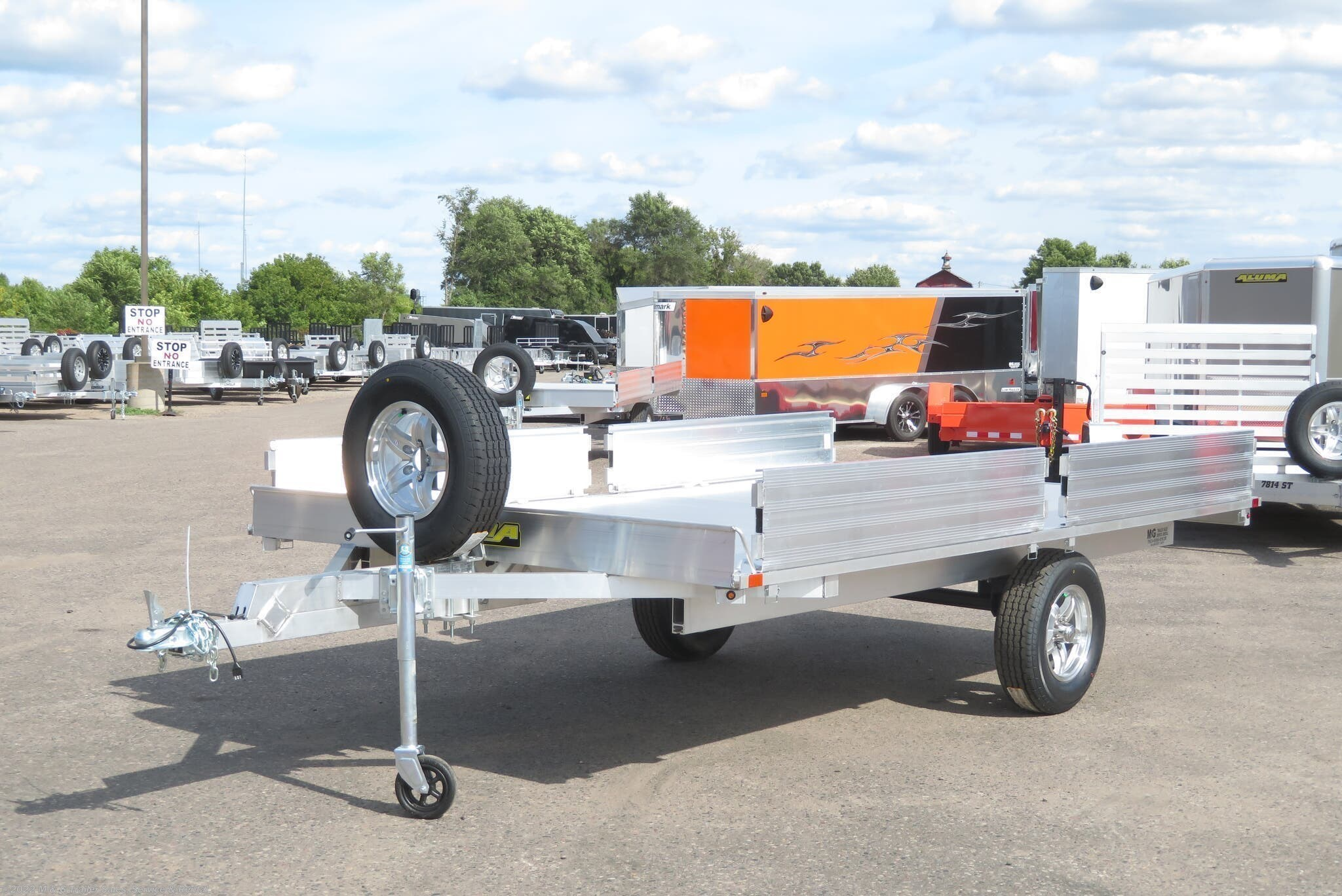 2020 Aluma A8812 Aluminum ATV Trailer - Scratch & Dent! - Stock #206354