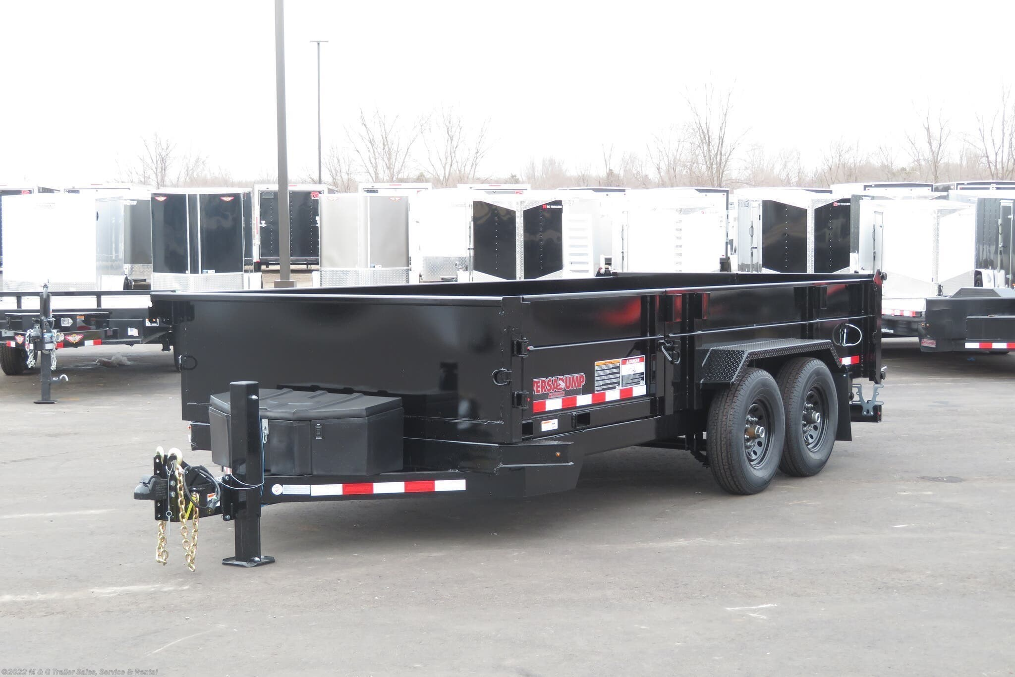 2020 Midsota 14' Dump Trailer - Black - Stock #003611
