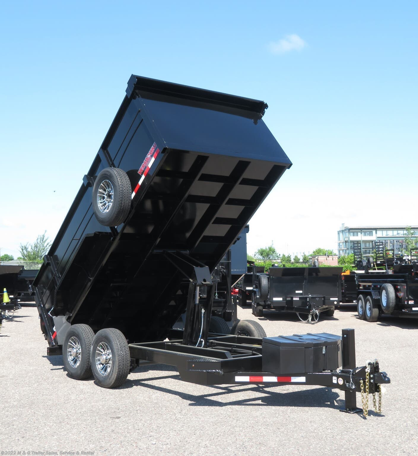 "2021 Midsota 14' Dump Trailer - Black with 45"" Sides - Stock #000225"