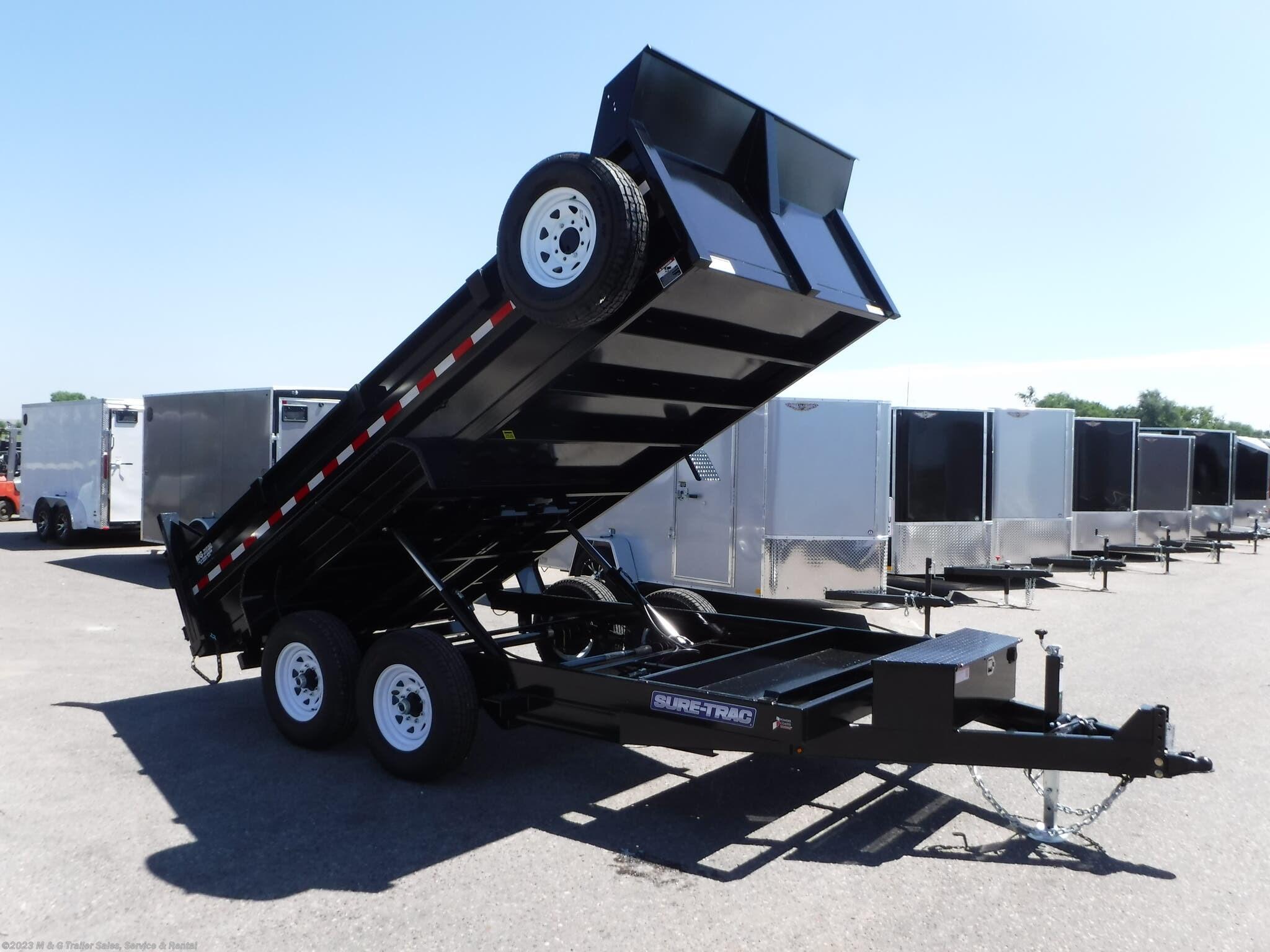 2021 Sure-Trac 14' Dump 14k Trailer - Black - Stock #313065