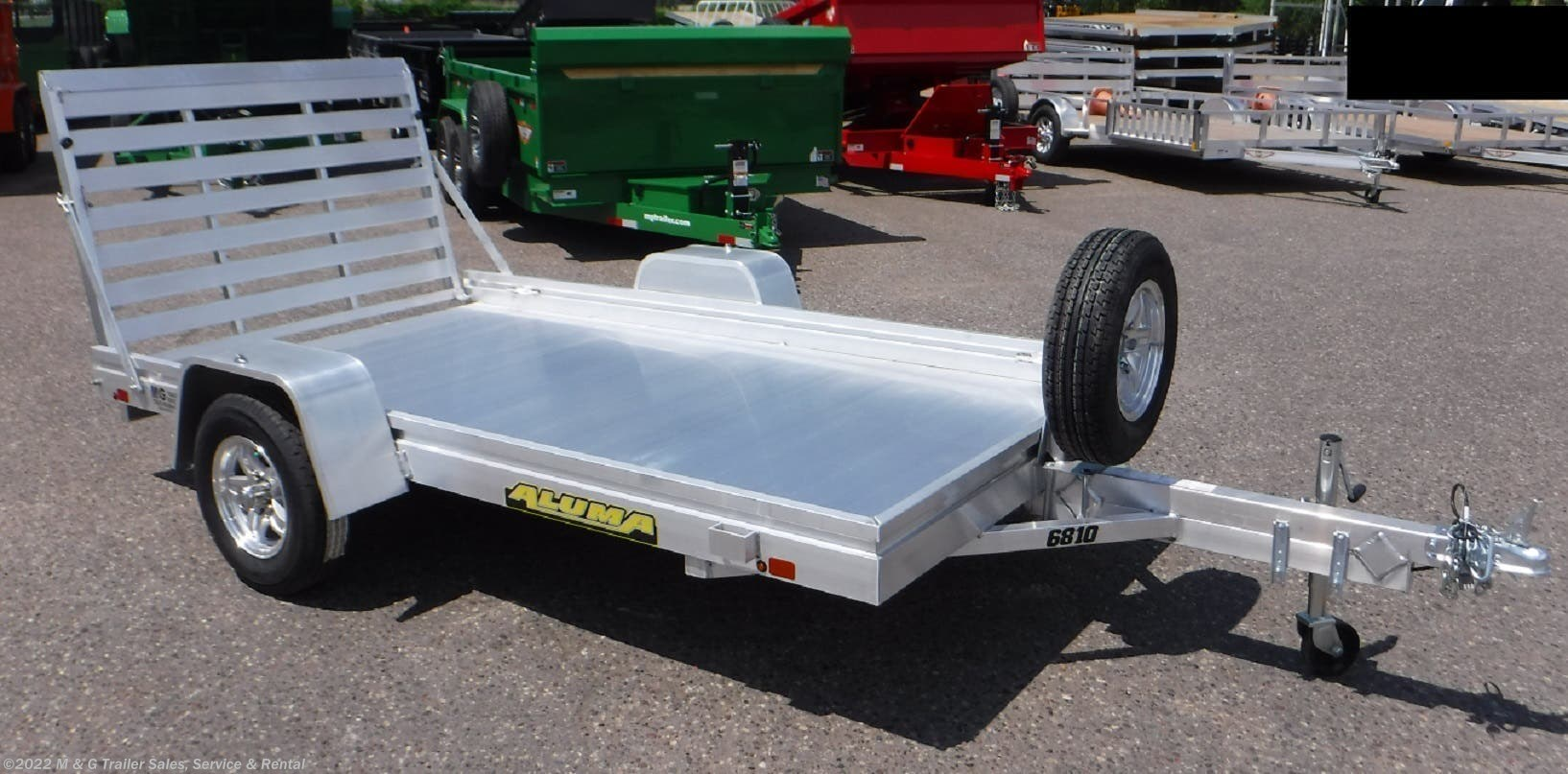 2021 Aluma 6810 Aluminum Utility Trailer - Stock #224723