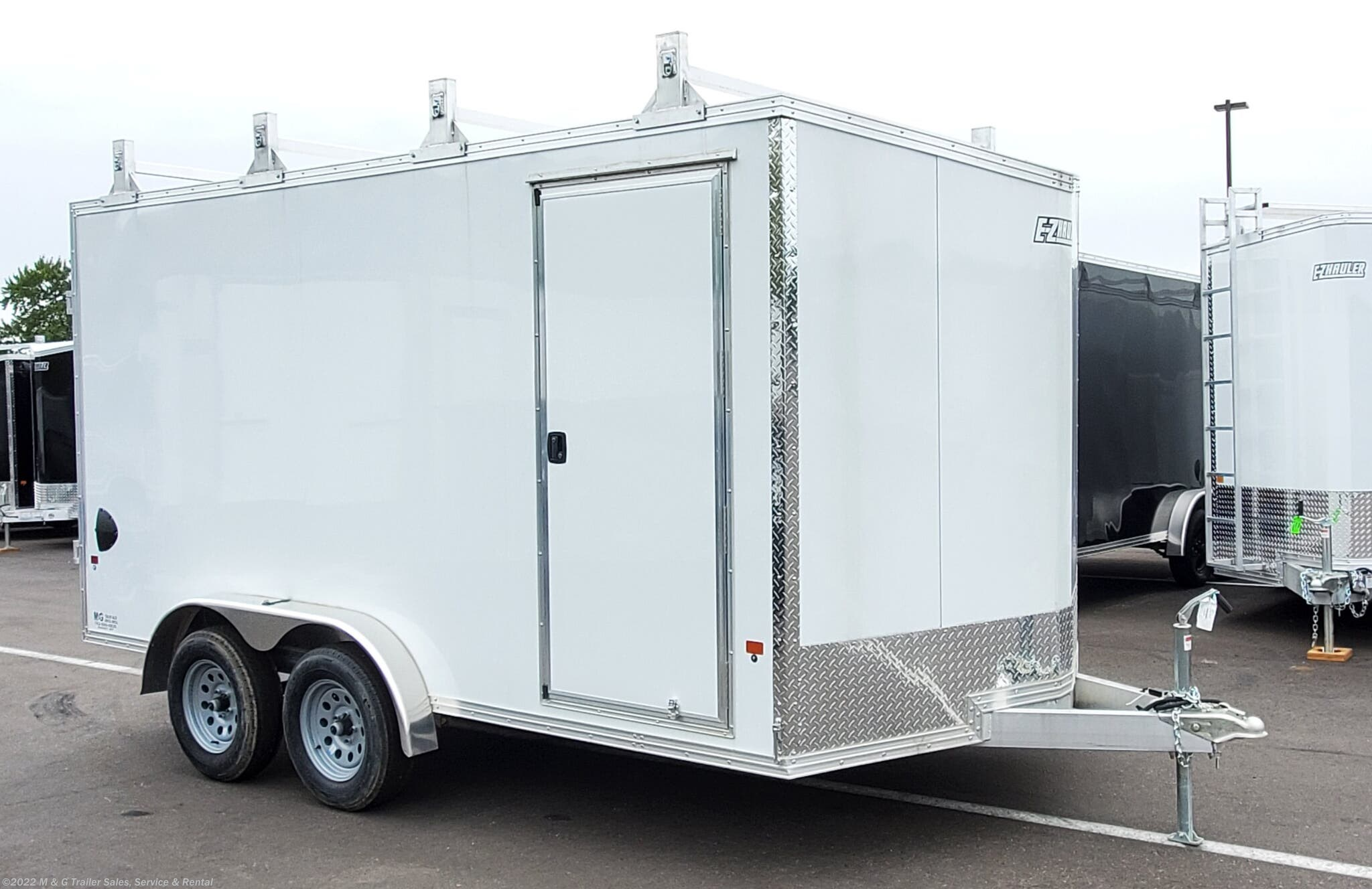2020 E-Z Hauler 7.5X14TA Aluminum Enclosed 7' Int Cargo Trailer - Stock #014206