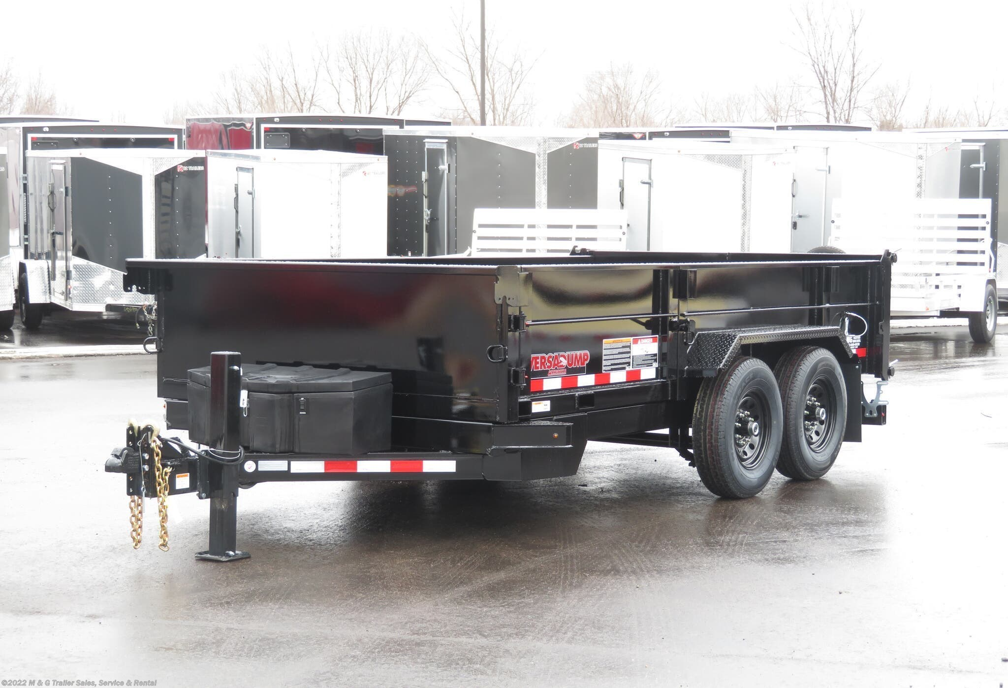 2021 Midsota 14' Dump Trailer - Black - Stock #000974