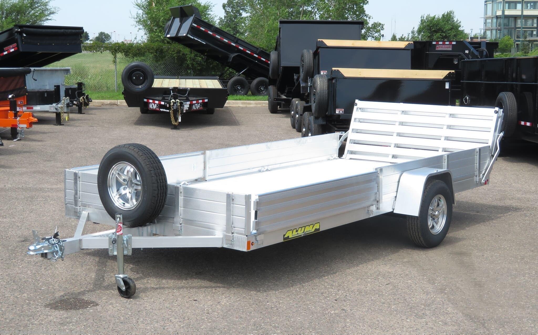 2021 Aluma 8114 SR Aluminum ATV/Utility Trailer - Stock #227082