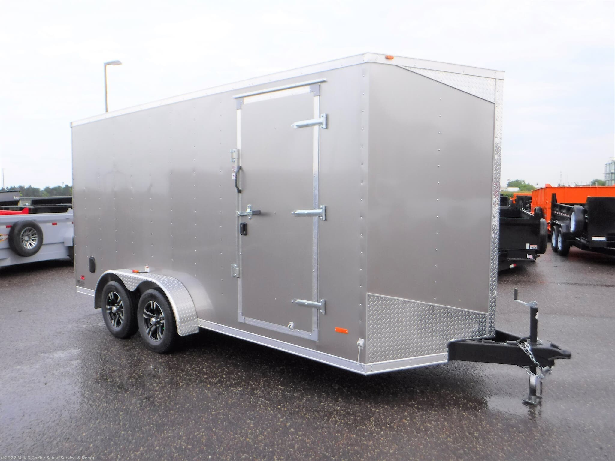 "2021 RC Trailers 7x16TA Enclosed 6'6"" Int Cargo - SILVER - Stock #659197"