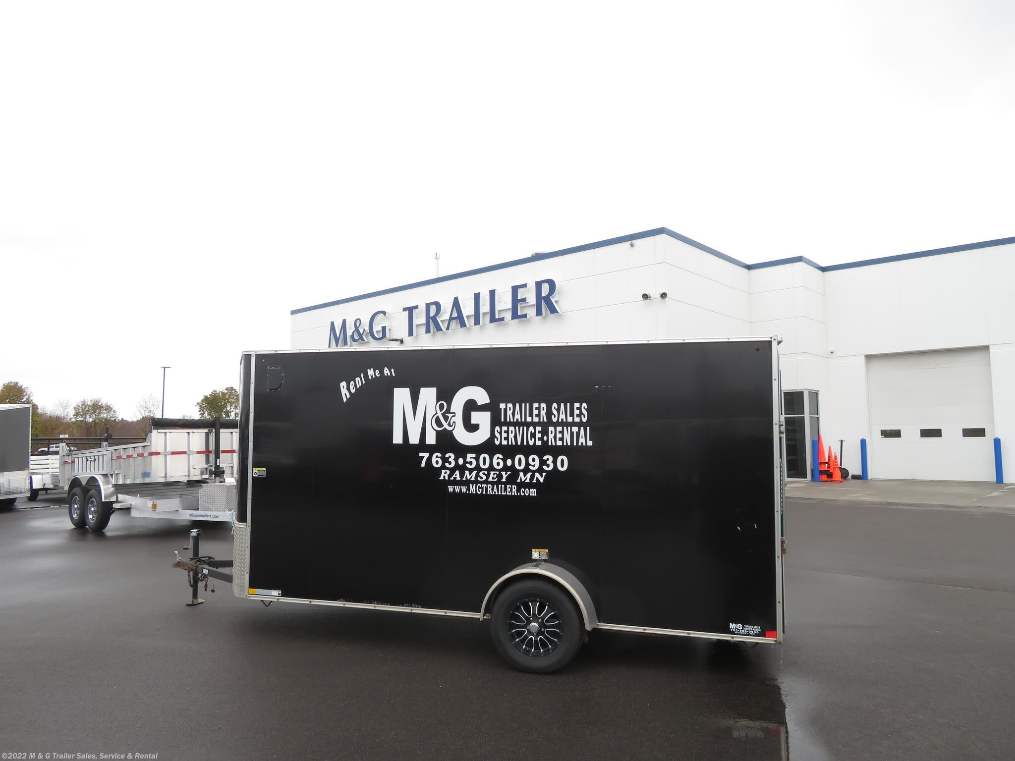 2016 H&H Used 6' x 14' Single Axle Enclosed Trailer - Stock #255768